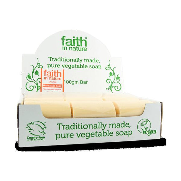 Faith In Nature Orange Soap Bulk 100g 18 Pack