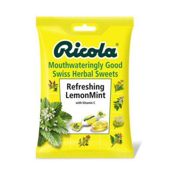 Ricola Swiss Herbal Sweets - Lemon Mint 70g 12 Pack