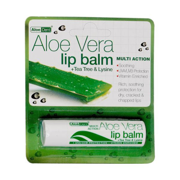Aloe Dent Aloe Vera Lip Balm 4ml 12 Pack x 12 pack