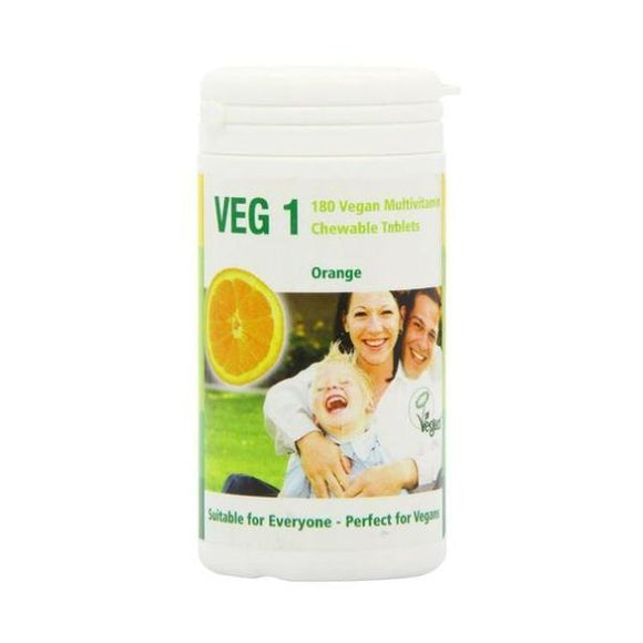 Veg1 Vegan Multivitamin Chewable Tabs - Orange 180tabs