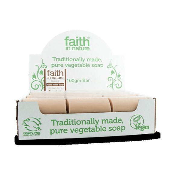 Faith In Nature Coconut Soap (Bulk) 100g 18 Pack
