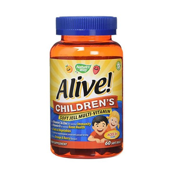 Alive! Children's Soft Jell Multi - Vitamin 60