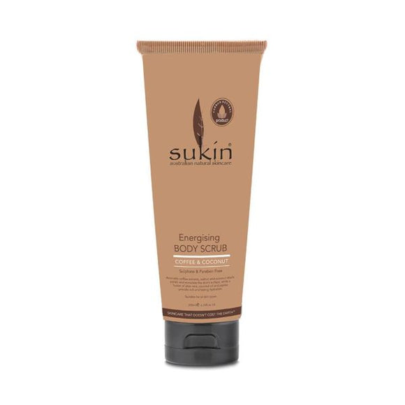 Sukin Energising Body Scrub With Coffee And Coconut