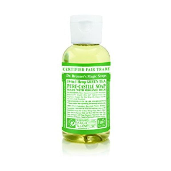 Dr Bronners Organic Green Tea Castille Liquid Soap x 12 pack