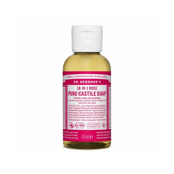 Dr Bronners Organic Rose Castille Liquid Soap x 12 pack