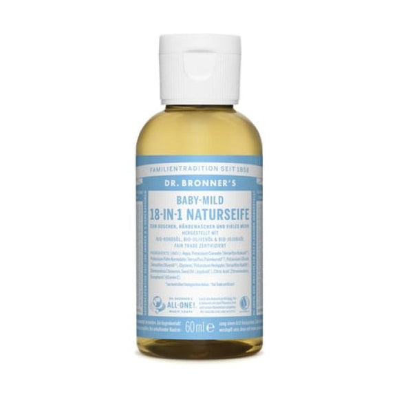 Dr Bronners Organic Baby/Unscented Castille Liquid Soap x 12 pack