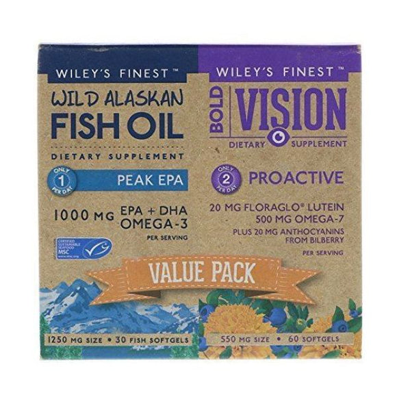 Wiley's Finest Bold Vision: Value Pack 90Caps