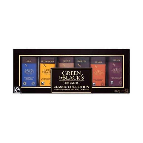 Green & Black'S Organic Fair Trade Classic Miniatures Bar Collection x 12 pack
