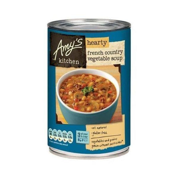Amys Soups Hearty French Country Vegetable Soup 408g