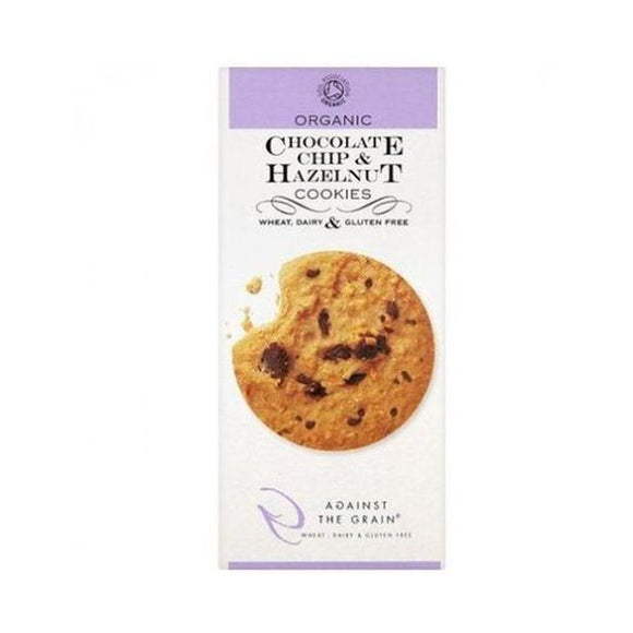Against The Grain Organic Chocolate Chip & Hazlenut Cookies 150g