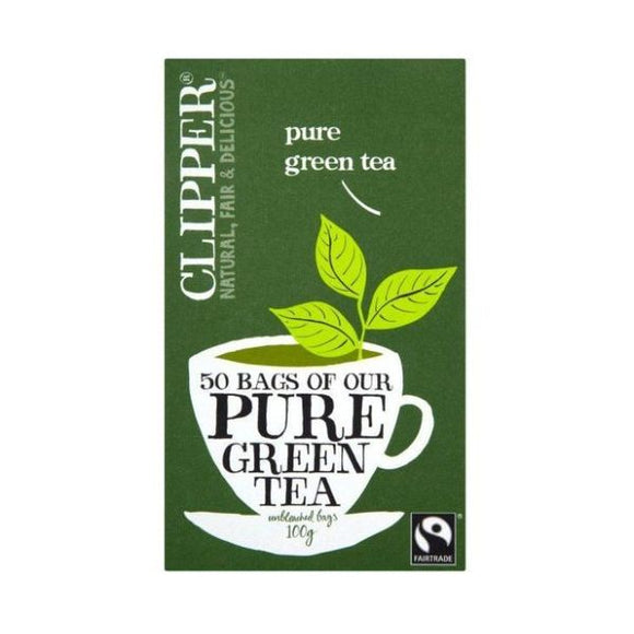 Clipper Pure Green Teabags Fairtrade 50bags