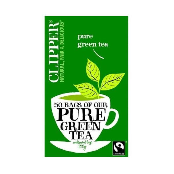 Clipper Fairtrade Organic Green Tea 50bags