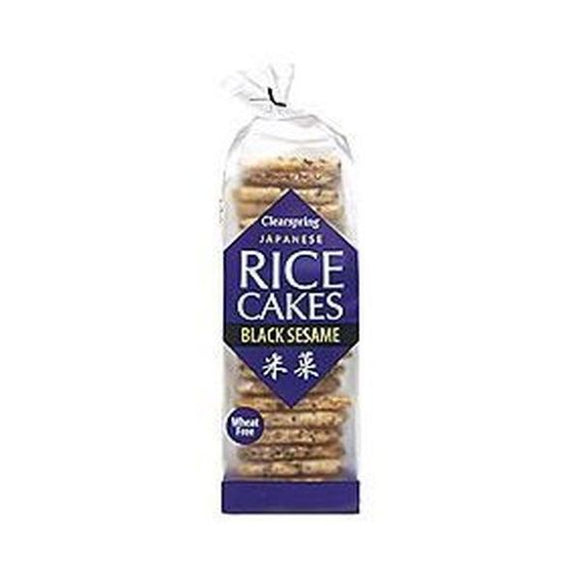 Clearspring Japanese Rice Cakes - Black Sesame 150g