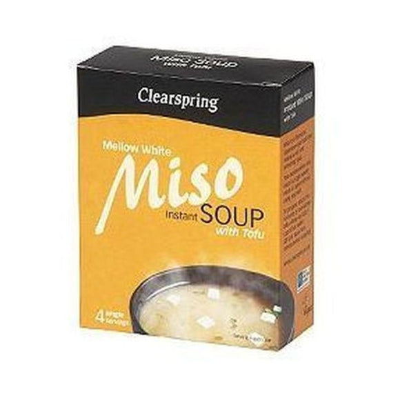Clearspring White Instant Miso Soup with Tofu 4x10g