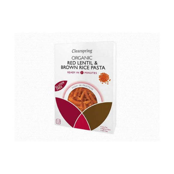 Clearspring Wholefoods Organic Red Lentil & Brown Rice Pasta Fusilli