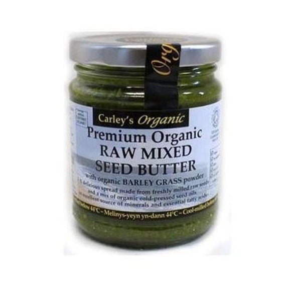 Carley'S Premium Organic Mixed Seed Butter with Barley Grass Powder 250g