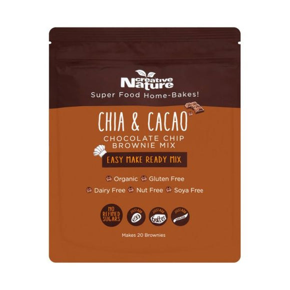 Creative Nature Chia And Cacao Chocolate Chip Brownie Mix