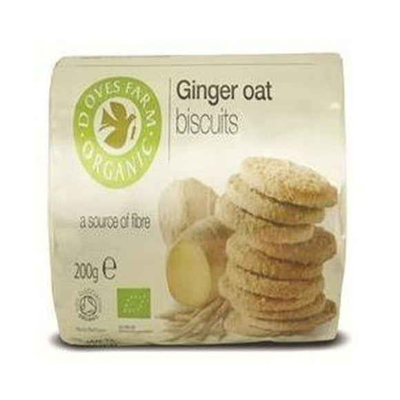 Doves Farm Organic Ginger Oat Biscuit 200g