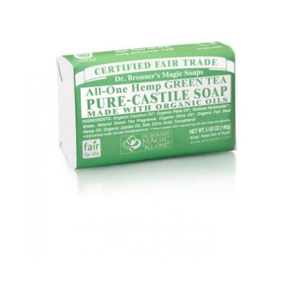 Dr Bronners Organic Green Tea Soap Bar