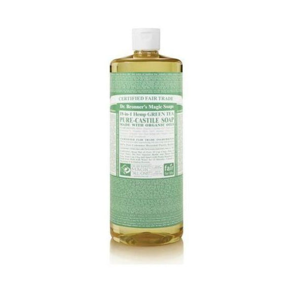 Dr Bronners Organic Green Tea Pure Castille Liquid Hand Soap