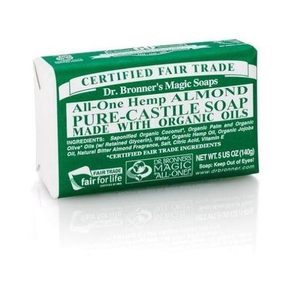 Dr Bronners Organic Almond Soap Bar 140g