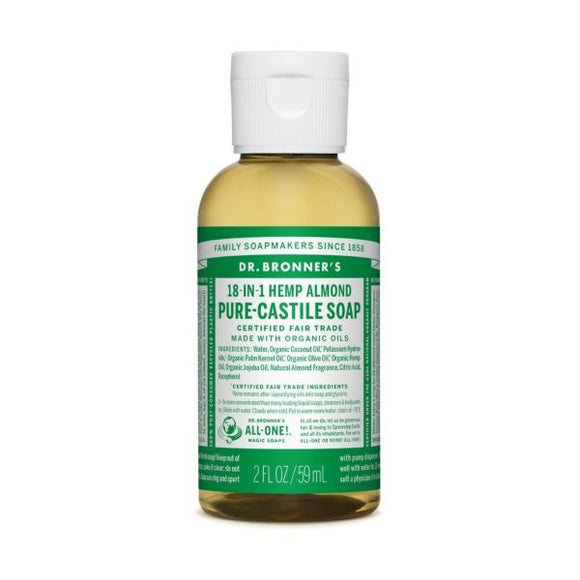 Dr Bronners Organic Almond Castille Liquid Soap x 12 pack