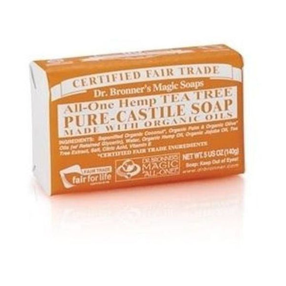 Dr Bronners Organic Tea Tree Soap Bar 140g