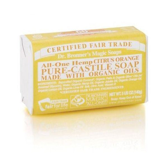 Dr Bronners Organic Citrus Soap Bar 140g