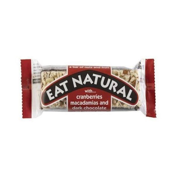 Eat Natural Dark Chocolate, Cranberry and Macadamia Bar 45g 12 Pack