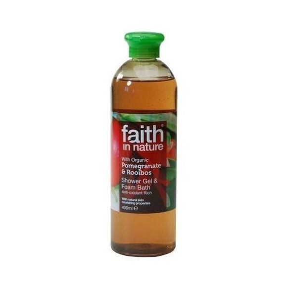 Faith In Nature Pomegranate & Rooibos Shower Gel/Foam Bath 400ml