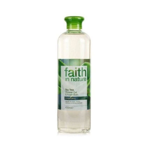 Faith In Nature Tea Tree Shower Gel / Foam Bath 400ml