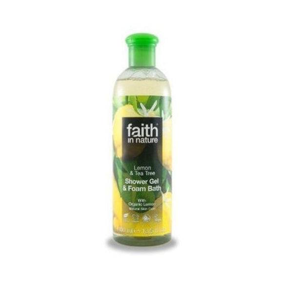 Faith In Nature Lemon & Tea Tree Shower Gel/Foam Bath 400ml