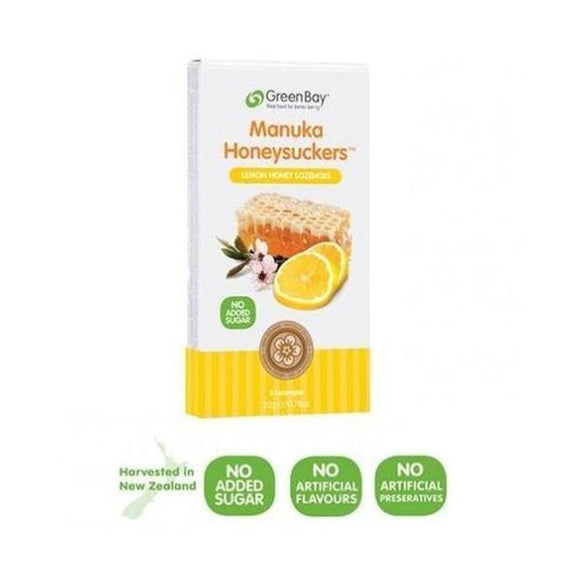 Greenbay Harvest Lemon Manuka Honeysuckers 22g
