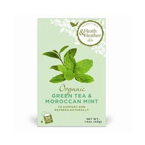 Heath & Heather Organic Green Tea & Moroccan Mint 20bags