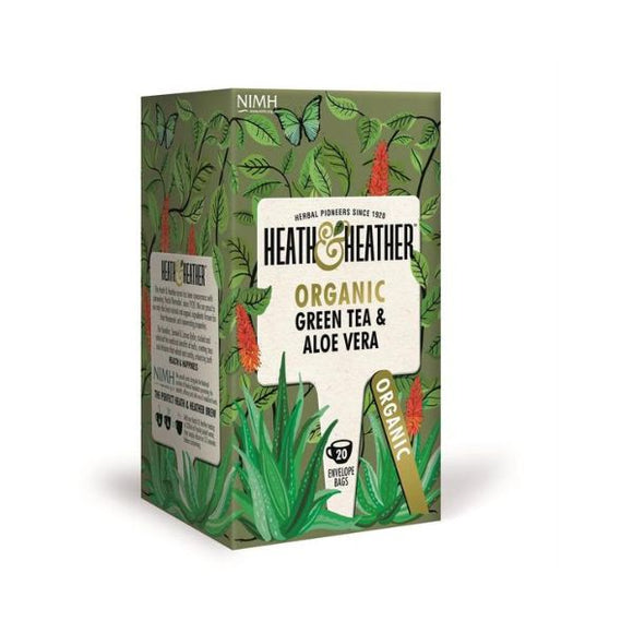 Heath & Heather Organic Green Tea & Aloe Vera