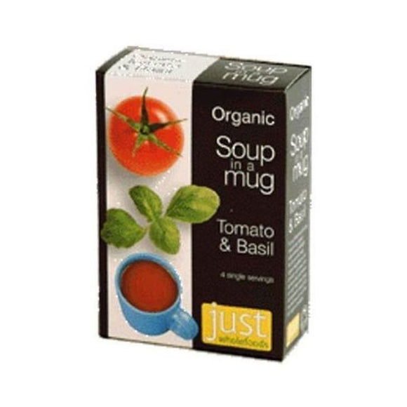 Just Natural Organic Instant Tomato And Basil Soup Mix 4x17g