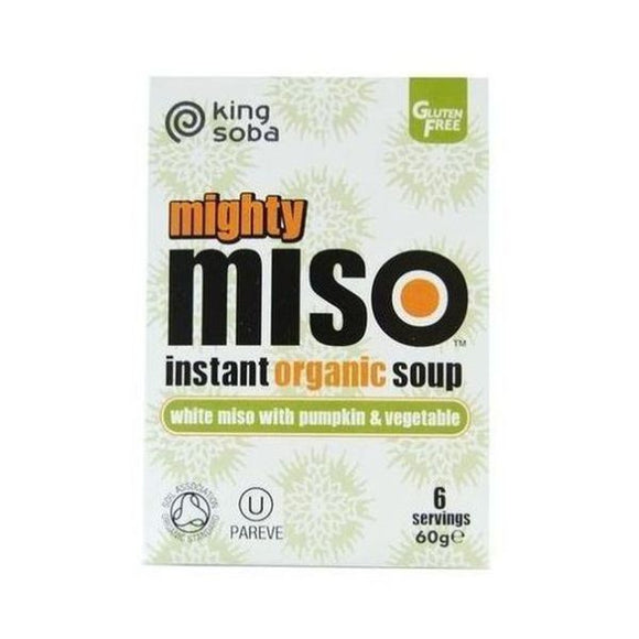 King Soba Organic Miso Soup with Pumpkin 6x10g