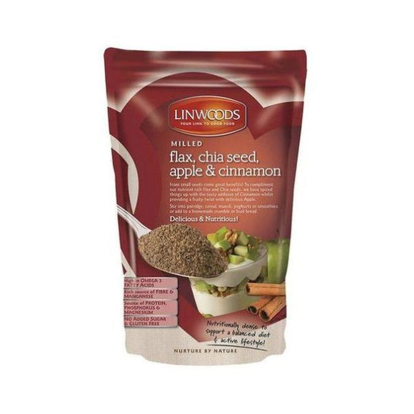 Linwoods Milled Flaxseed, Chia, Apple & Cinnamon 200g
