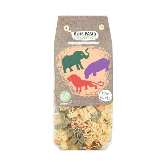 Little Pasta Organics Animal Shaped Pasta - Spinach & Tomato 250g