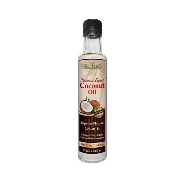 Natures Aid Coconut Oil Liquid (93 & MCT) 250ml