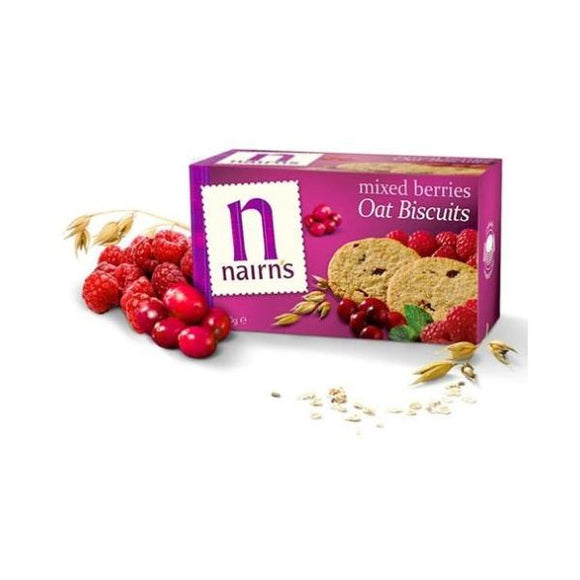 Nairn'S Oatcakes Wild Berries Wheat Free Biscuits 200g