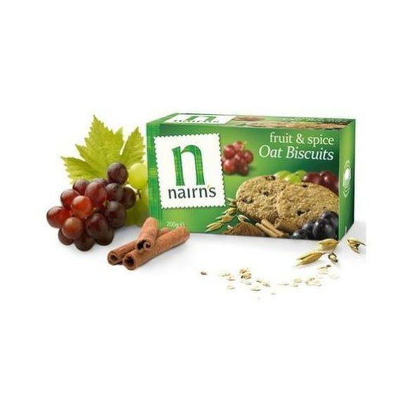 Nairn'S Oatcakes Fruit And Spice Wheat Free Biscuits 200g