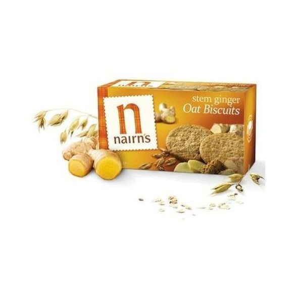 Nairn'S Oatcakes Stem Ginger Wheat Free Biscuits 200g