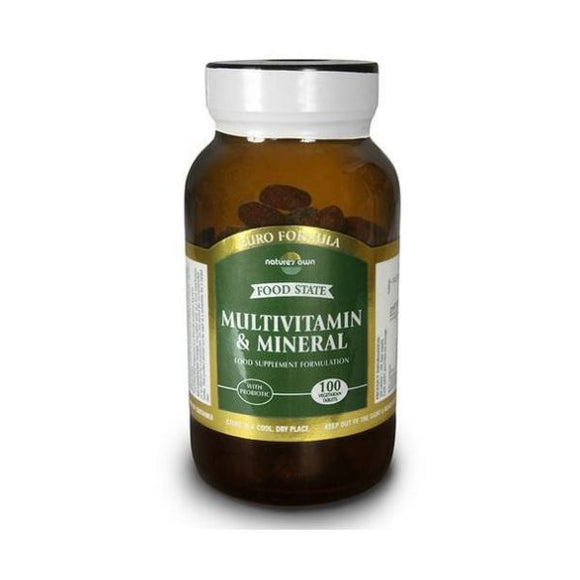 Natures Own Food State Multivitamins & Minerals One a Day 100tabs