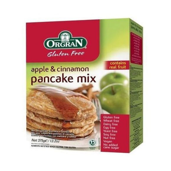 Orgran Apple & Cinnamon Pancake Mix 375g