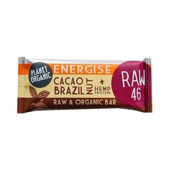 Planet Organic Cacao Brazil Nut Energise Bar 30g 20 Pack