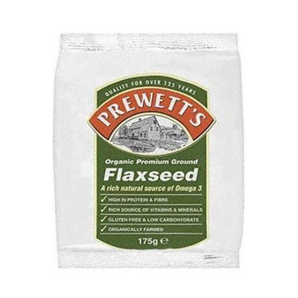 Prewetts Organic Ground Flaxseed 175g