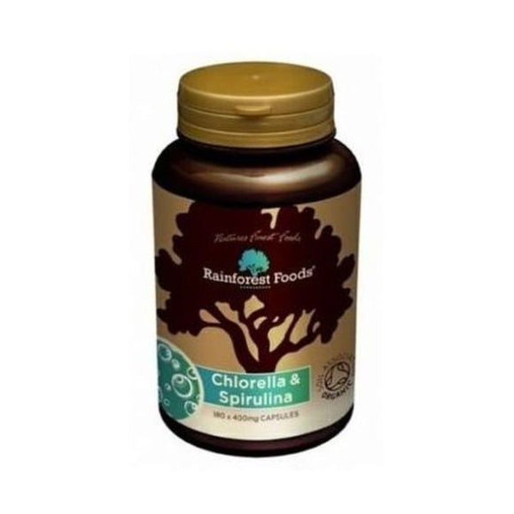 Rainforest Foods Organic Chlorella & Spirulina Tablets 500mg 300tabs
