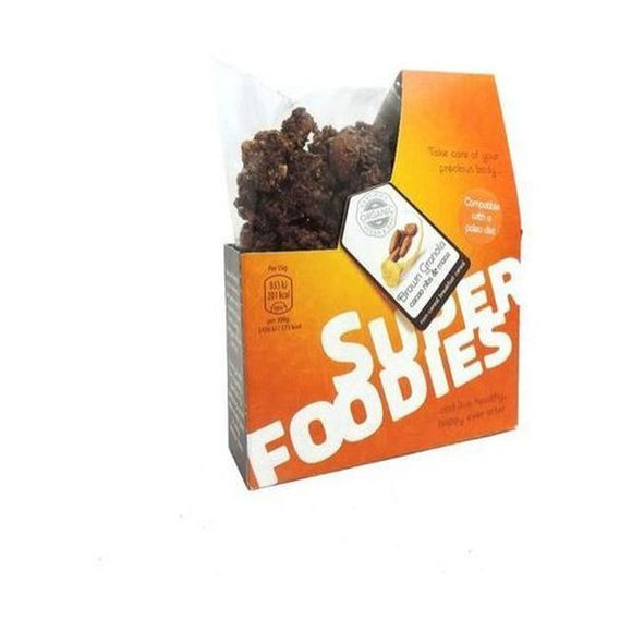 Superfoodies Cacao Nibs/Maca Granola 'The Brown One' 200g