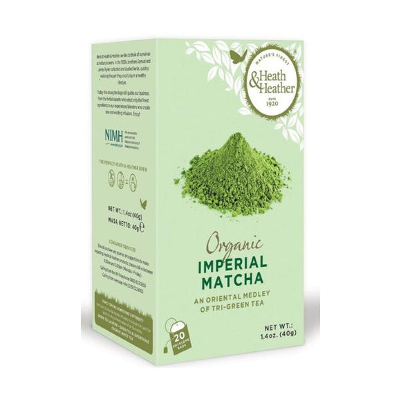 Heath & Heather Organic Imperial Matcha Green Tea 20bags
